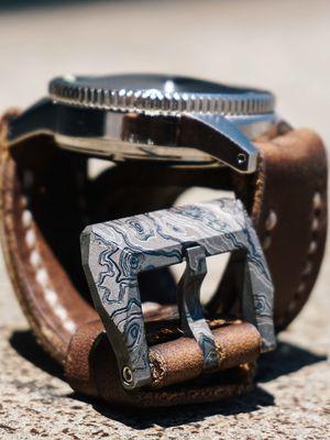 RIS Machining Titanium Watch Buckle TAD Edition