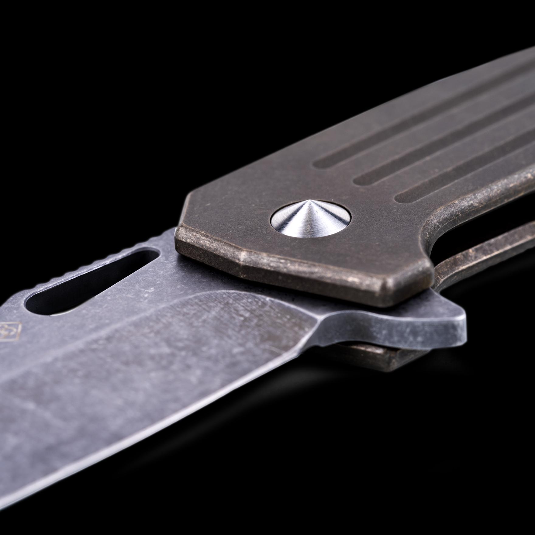 Burke Knives Custom Hitman Stubby Tad Edition Triple Aught Design