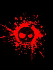 Mean T-Skull Blood Splatter T-Shirt