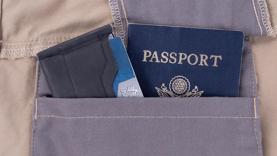 Hidden Passport Pocket