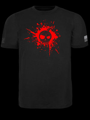 Mean T-Skull Blood Splatter T-Shirt