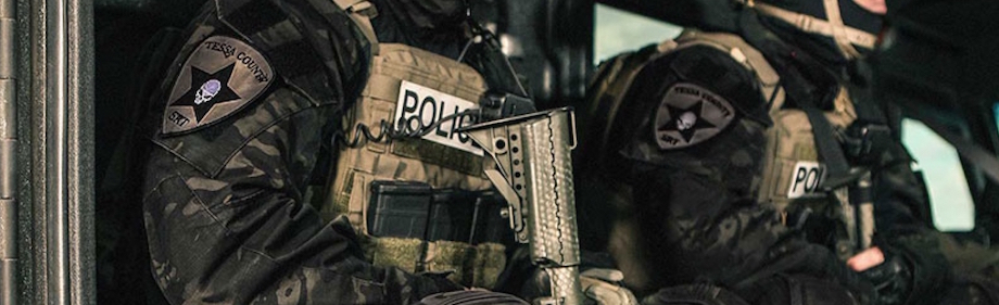 The MultiCam Black™ pattern was developed to meet the unique requirements of law enforcement officers operating in high-risk environments. It projects a distinctly authoritative presence appropriate for domestic operations. MultiCam Black™ is designed to complement an officer's existing equipment and present a sharp, professional image for top-tier law enforcement units. http://multicampattern.com/multicam_patterns